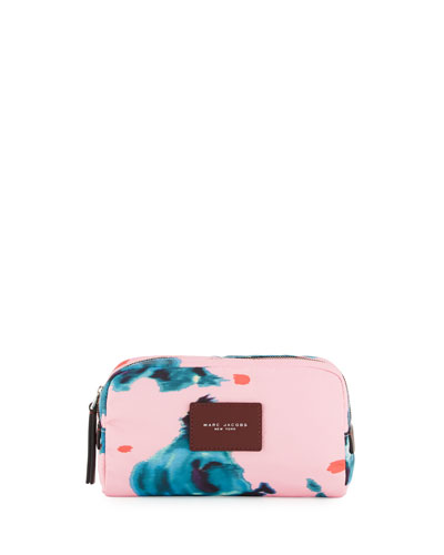 B.Y.O.T. Brocade Floral Large Cosmetic Bag, Pink/Multi