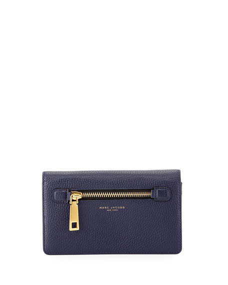 Marc Jacobs Gotham Leather Wallet-On-Strap, Midnight Blue