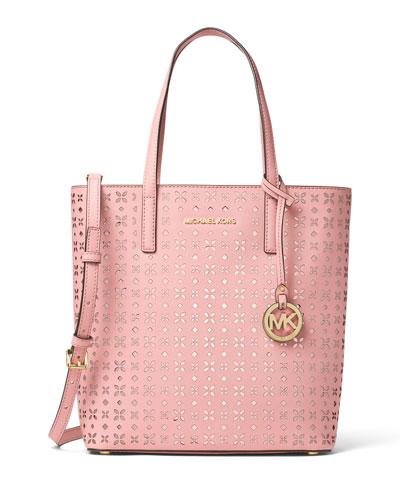 Hayley Medium Laser-Cut Logo Tote Bag, Blossom/Ballet