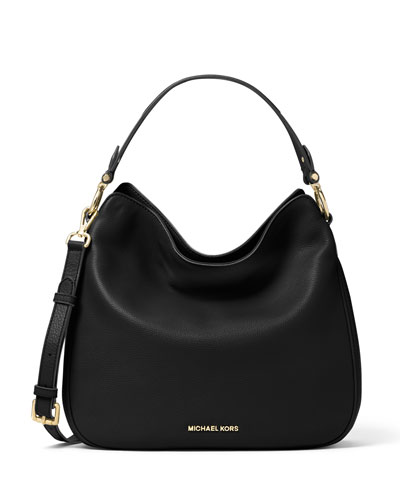 Heidi Medium Convertible Shoulder Bag, Black