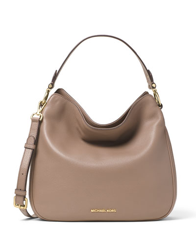 Heidi Medium Convertible Shoulder Bag, Dark Dune