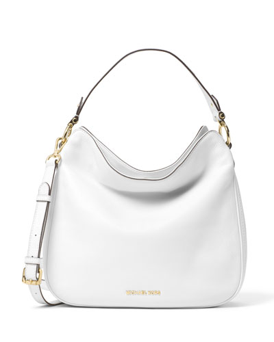 Heidi Medium Convertible Shoulder Bag, Optic White