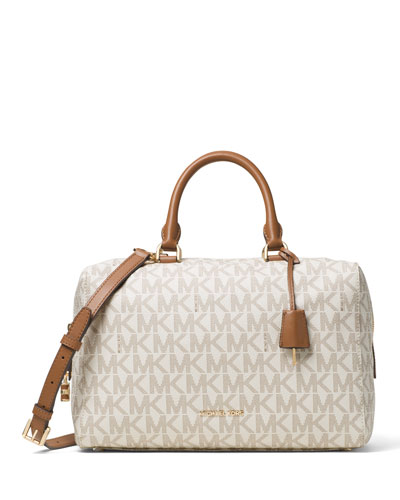Kirby Large Logo Satchel Bag, Vanilla
