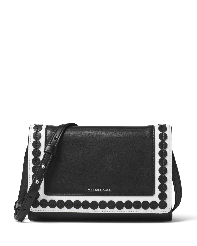 401286d7d20e MICHAEL Michael Kors Analise Medium Leather Messenger Bag