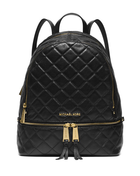 Michael Michael Kors Rhea Medium Quilted Backpack Black
