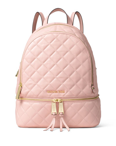 Rhea Medium Quilted Backpack, Blossom