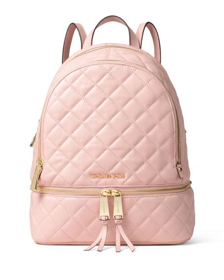 MICHAEL Michael Kors Rhea Medium Quilted Backpack, Blossom