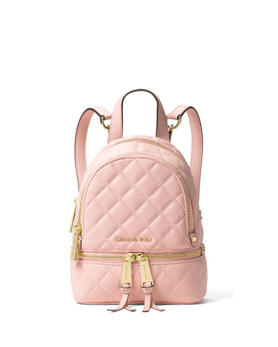 Rhea XS Quilted Messenger Backpack, Blossom