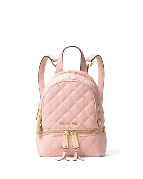 MICHAEL Michael KorsRhea XS Quilted Messenger Backpack, Blossom