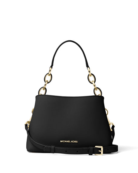 MICHAEL Michael KorsPortia Small Saffiano Shoulder Bag, Black