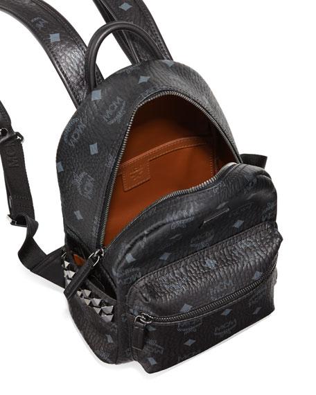 Stark Side-Stud Mini Backpack, Black
