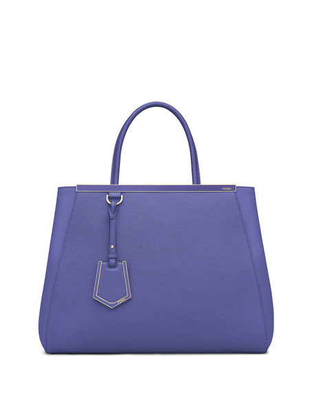 Fendi 2Jours Medium Saffiano Tote Bag, Purple