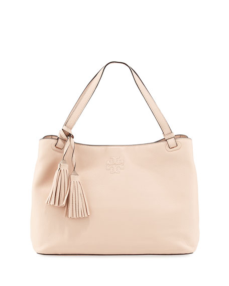 Tory Burch Thea Leather Hobo Bag, Light Pink