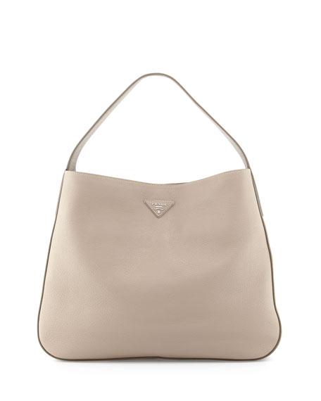 Prada Vitello Daino Leather Medium Wide-Strap Hobo Bag cb3f5832f56ff