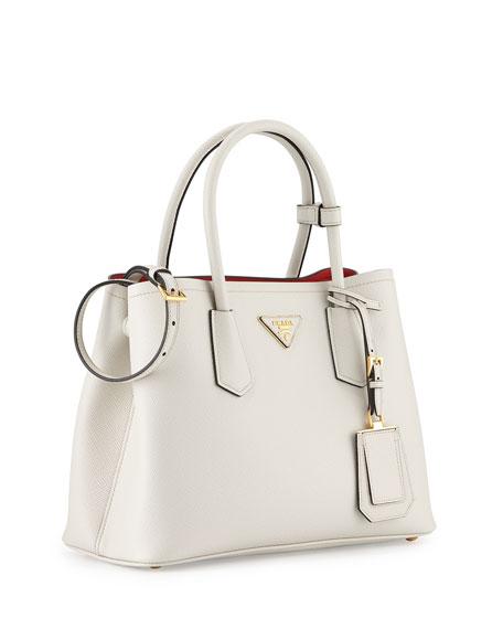 prada authentic handbag - prada saffiano cuir double mini tote bag, latest prada