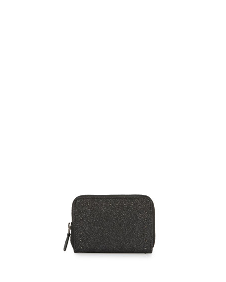 Leather Mini Wallet, Black