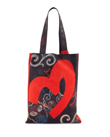Donna Karan Hand-Painted Small Tote Bag, Black