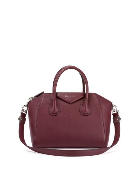 Antigona Medium Leather Satchel Bag, Oxblood
