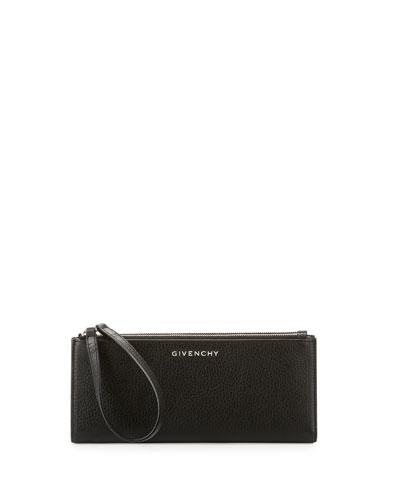 Pandora Long Double-Zip Wallet, Black