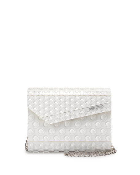 Jimmy Choo Candy Bubble Wrap Clutch Bag, Latte