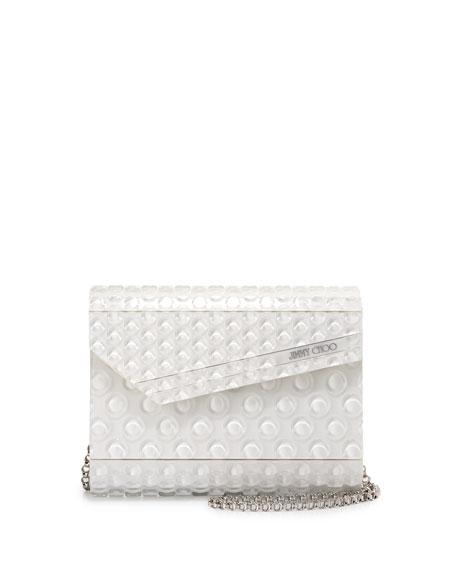 Jimmy Choo Candy Bubble Wrap Clutch Bag, Latte