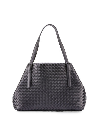Medium Intrecciato Grosgrain Tote Bag, Multi