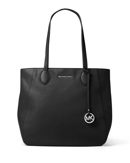 Ani North-South Top-Zip Tote Bag, Black