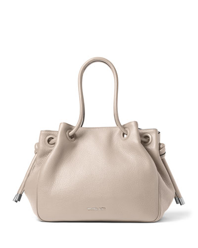 Dalia Large Shoulder Tote Bag, Cement