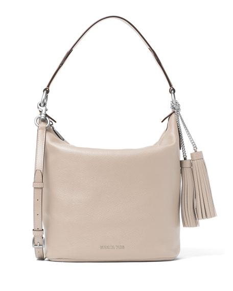 Elana Large Convertible Shoulder Bag Cement
