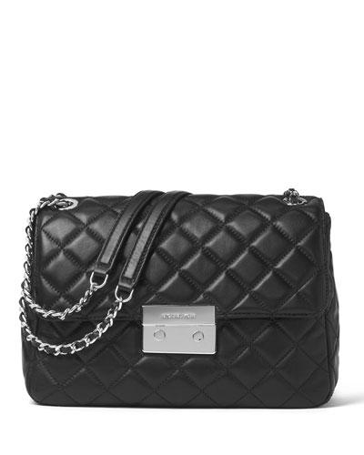 Sloan XL Chain Shoulder Bag, Black