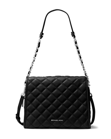 MICHAEL Michael Kors Rachel Medium Quilted Satchel Bag, Black : michael kors quilted bag - Adamdwight.com