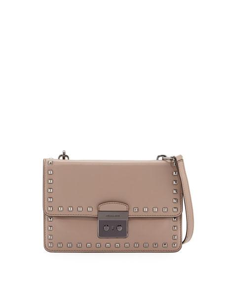 MICHAEL Michael KorsSloan Studded Large Gusset Crossbody Bag,