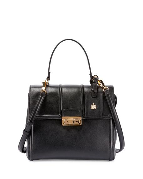 Lanvin Jiji Small Top-Handle Satchel Bag, Black