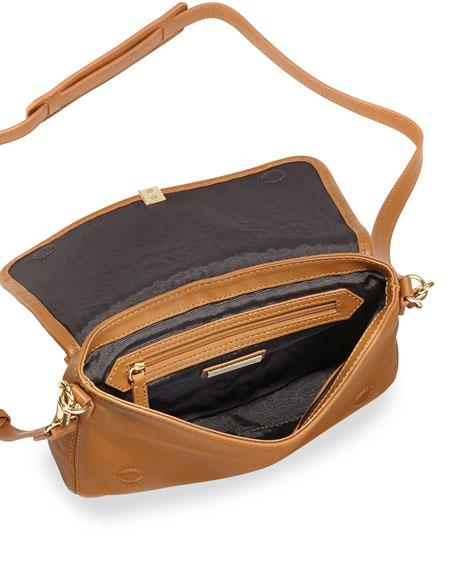 Cynnie Basket-Weave Mini Crossbody Bag, Dune