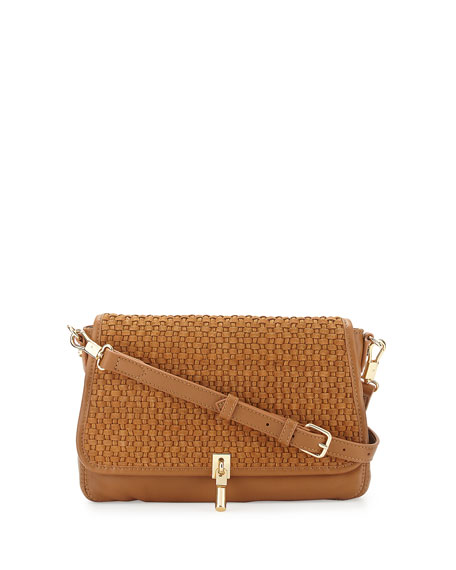 Elizabeth and James Cynnie Basket-Weave Mini Crossbody Bag, Dune