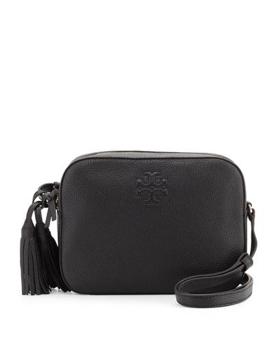 Thea Shoulder Bag w/Tassel, Black