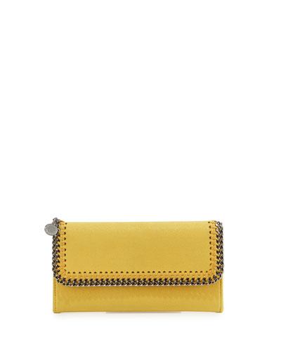 Falabella Flap-Top Wallet, Yellow