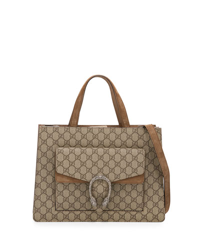 Dionysus Medium GG Supreme Tote Bag, Beige/Taupe