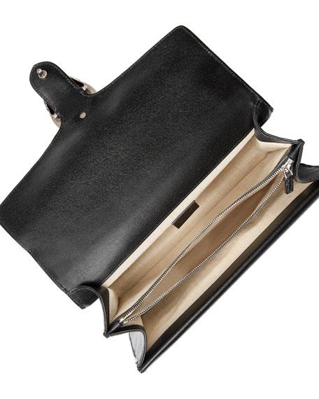 Dionysus Medium Tropical-Print Shoulder Bag, Black/Multi
