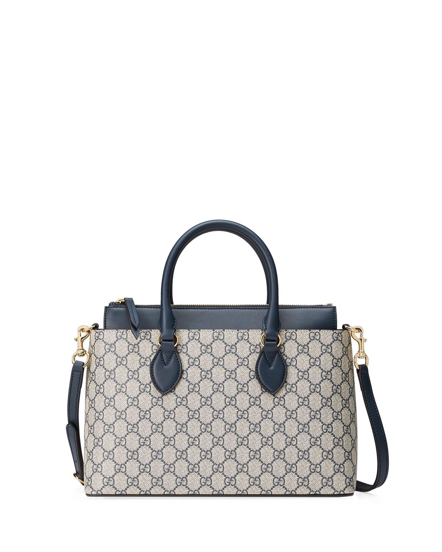 7c2d6025ba1fa9 Gucci GG Supreme Small Tote Bag, Beige/Blue | Neiman Marcus