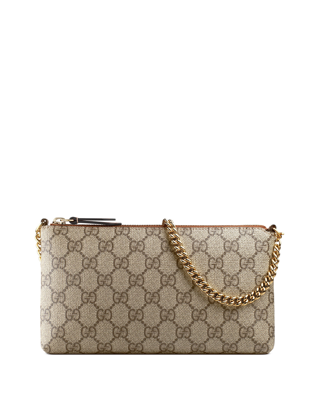 6c17fe752da56e Gucci GG Supreme Canvas Wrist Wallet | Neiman Marcus