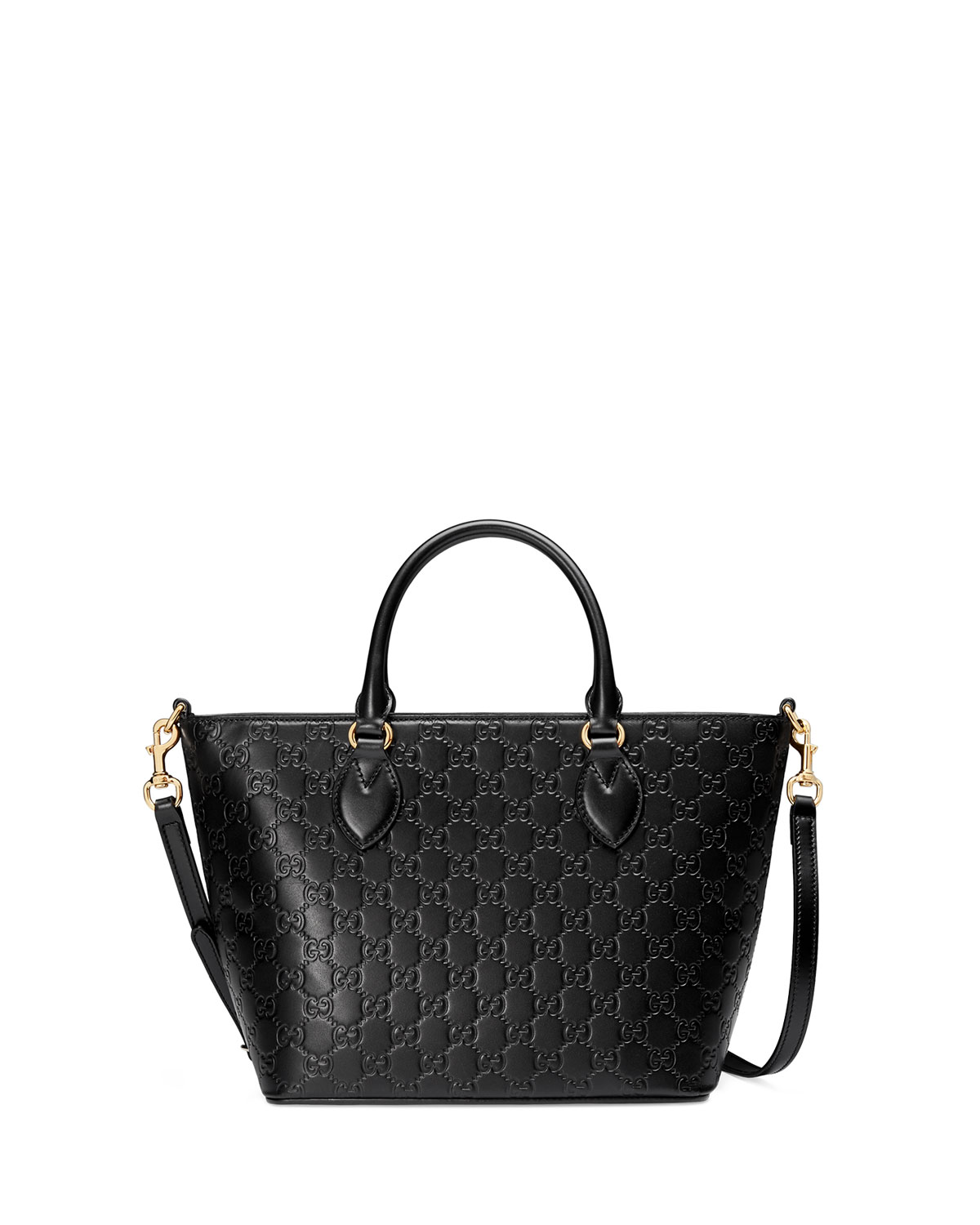 89038d18c9b3 Gucci Guccissima Small Leather Tote Bag, Black | Neiman Marcus