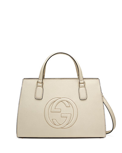 290bbd47c84 Gucci Soho Leather Top-Handle Satchel Bag