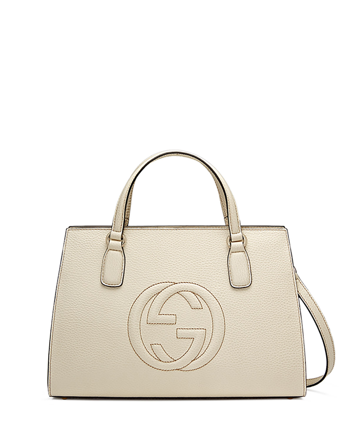 db5c33a9d3 Soho Leather Top-Handle Satchel Bag, White