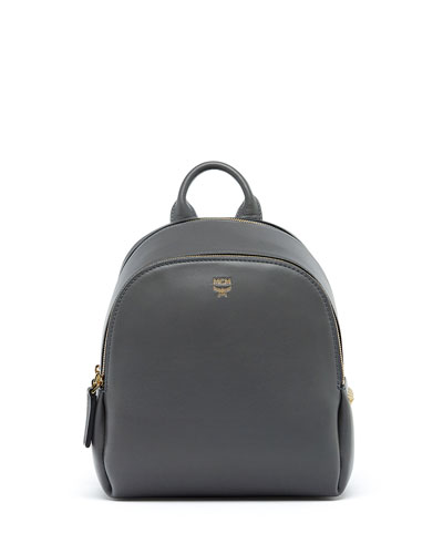 Duchess Side-Stud Mini Backpack, Mono Gray