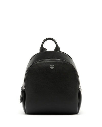 Duchess Side-Stud Mini Backpack, Black