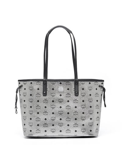 Medium Reversible Shopper Bag, Silver
