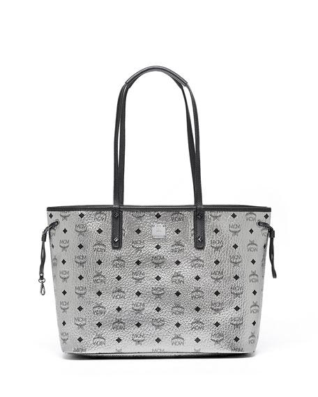 mcm medium reversible shopper bag silver neiman marcus. Black Bedroom Furniture Sets. Home Design Ideas