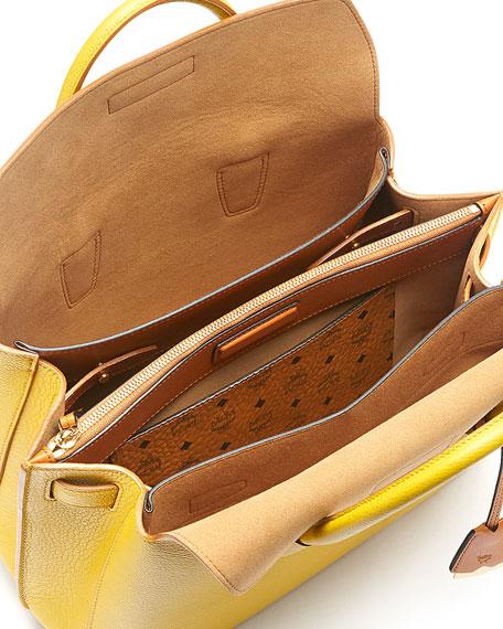 Milla Medium Leather Tote Bag, Sahara Yellow