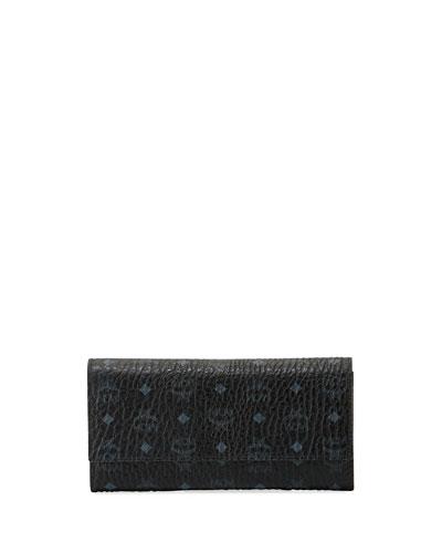Color Visetos Large Tri-Fold Wallet, Cognac